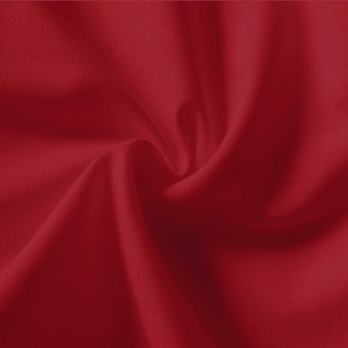 Plain Red 100% Cotton Fabric 150cm wide per metre by Stoffkontor
