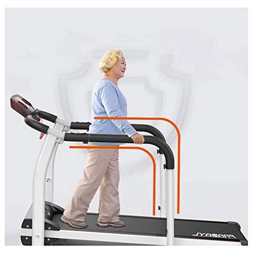 LAOHETLH Rehabilitation Laufband Zu Hause Ältere Menschen Zu Fuß Maschine 2.0H Motor Laufband Elektrisches Klappbar Super Sound Off Platzsparendes Senioren mit Handlauf 0,5-6 Km/H