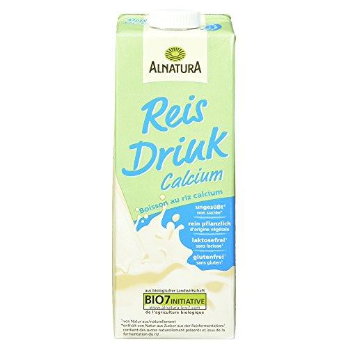 Alnatura Bio Reisdrink Calcium, glutenfrei, laktosefrei, vegan, 8er Pack (8 x 1 L)