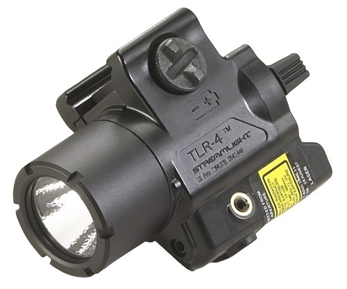 Streamlight 69240 TLR-4 Compact Rail Mounted Tactical Light with Laser Sight - 125 Lumens
