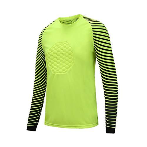YSPORT Fútbol Americano Traje Portero Uniforme Futbol Jerseys Camisa Dragón Manga Larga (Color : Green, Size : 2XL)