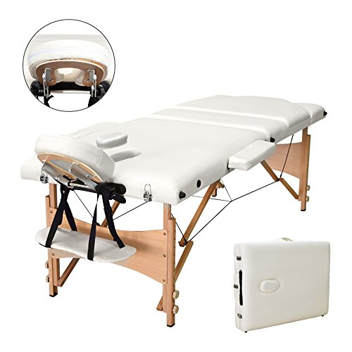 Vesgantti Portable Massage Bed Table - 3-Section Foldable...