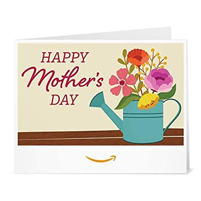 Amazon Gift Card - Print - Mother's Day Watering Can Bouquet