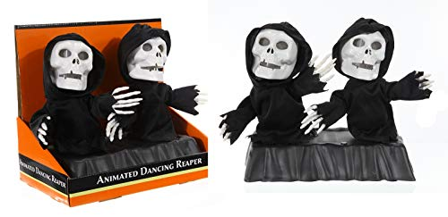 Preis am Stiel Halloween ''Tanzende Sensenmänner'' animiert | Halloween Deko | Party Zubehör | Sensenmann | Geister | Skelett | Halloween Accessoires | Gespenst | Zombies | Halloweenparty