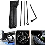 munirater Wrench Tire Tool Kit Bag Replacement for 2005-2013 Toyota Tacoma Spare Tire Lug Wrench Extension Iron Tire Jack Steel Black