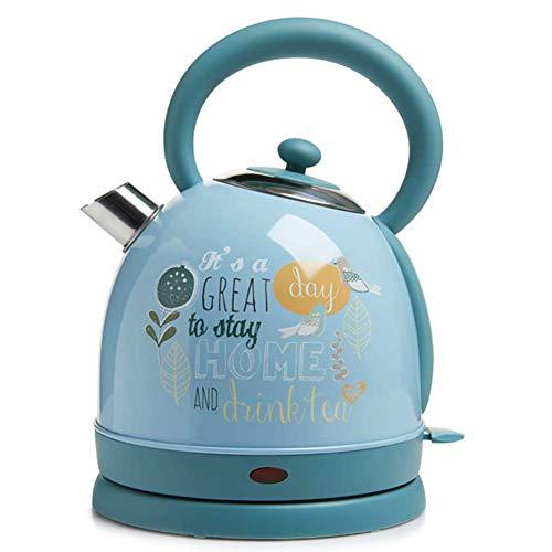 GYC Home Edelstahl-Kochkessel   Wasserkocher   1,7 l Teekessel   Gebürstet   Auto-Shut-Off & Boil-Dry-Schutz   Ideal für heißes Wasser, Tee oder Kaffee - 1800W