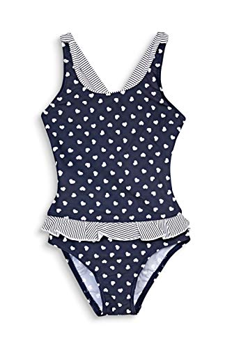 ESPRIT Bodywear Mädchen Sweet Hearts AOP Swimsuit Badeanzug, 401, 116/122