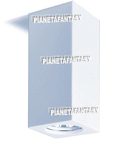 Porte spot cube d'intérieur en plâtre céramique PF22 lot de 50 pièces + douille GU 10 pour ampoules LED