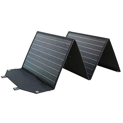 グッドグッズ(GOODGOODS) ソーラーチャージャー 120W 単結晶 ソーラーパネル 高変換効率 折り畳み式 DC出力 ポータブル電源 充電器 USB出力 スマホ、タブレットに充電 軽量 アウトドア 防災 TYH-120WA