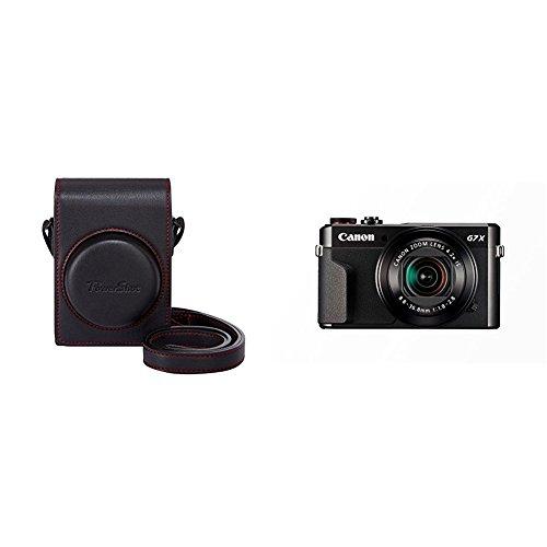 Canon DCC-1880 - Funda para cámara Canon Powershot G7X MK II, negro + Canon PowerShot G7 X Mark II - Cámara digital compacta de 20.1 MP (pantalla de 3