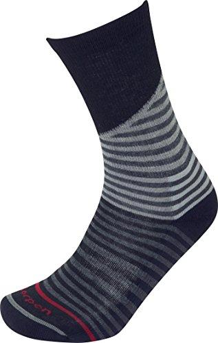 Lorpen Herren Wandersocken TCXTM Lifestyle Streifen Socken, Herren, dunkelrot
