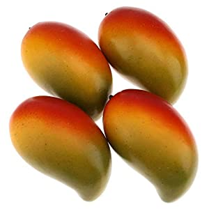 Gresorth 4pcs High-Grade Fake Green Mango Artificial Fruits Simulation Home Party Table Cabinet Decoration Photography Props