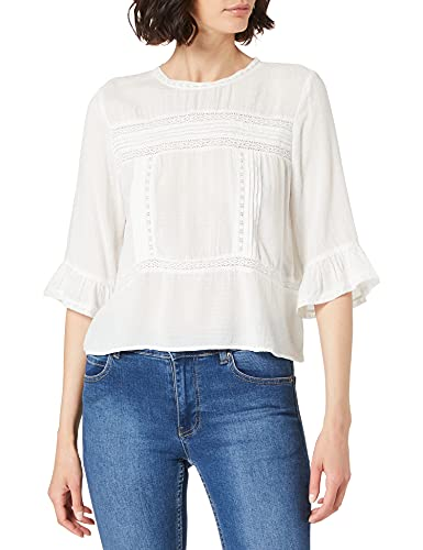 Only Onlanemone 3/4 Flaired Top Noos Wvn Blusas, Cloud Dancer, 42 para Mujer