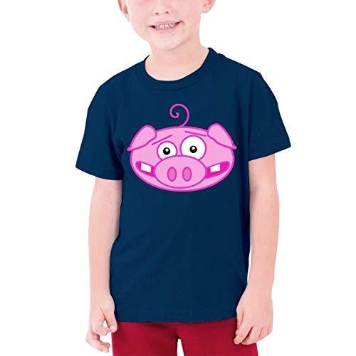 YGYP Camisetas con gráficos Juveniles Adolescentes, niñasCamiseta de Manga horte Camiseta de Cuello Redondo Estampada con Cara de Cerdo Divertida Camisetas Tees Tops