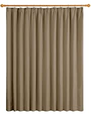 Deconovo 1級遮光カーテン 1枚入 幅200cm丈178cm カーキ 全12色 UVカット 断熱 おしゃれ 節電対策 昼夜目隠し