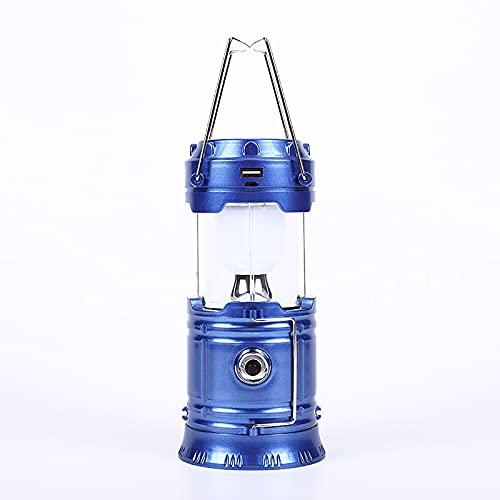 RTOFO Linterna Solar para Camping, Linterna portátil LED, ultrabrillante Plegable, Resistente al Agua, Apto para Senderismo al Aire Libre, Camping, Pesca