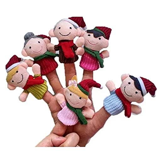 XXSHN Juguete de Peluche 6 PCS Niños Juguete Educativo Marioneta de Dedo Cojines de Historia de Felpa