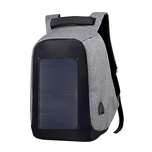 Sothat Mochila para Ordenador Portátil Antirrobo con Cargador de Panel Solar Mochila de Viaje de Oficina de Negocios de Gran Capacidad para Hombres y Mujeres