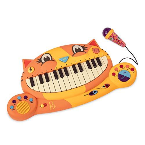 B. toys Meowsic Katzen Keyboard – Spielzeug Piano mit Mikrofon und Musik – Kinder Klavier Spielzeug ab 2 Jahren
