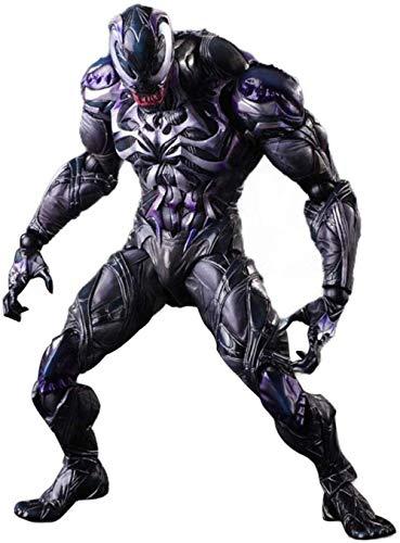 lkw-love Venom Action Figure PA Cambia Venom Modello Mobile Statua Anime Ornamento Altezza 25 Cm - con Accessori per Effetti Speciali Hero