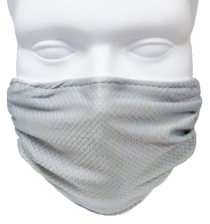 Breathe Healthy Honeycomb Face Mask (2 Pack) Face Mask - Adjustable, Washable (Silver)