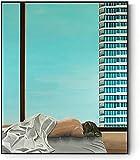 XMYC Pintura Moderna Construir niña Paisaje Abstracto Cartel Moderno Impresiones Imagen Sala de Estar decoración de la Pared de la Oficina 60x80 cm sin Marco