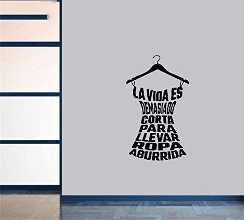 pegatina de pared etiqueta de la pared La Vida Es Demasiado Corta Para Llevar Ropa Aburrida Para Niñas