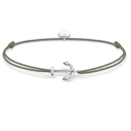 THOMAS SABO Damen Armband Little Secret Anker 925er Sterlingsilber, Nylon LS001-173-5