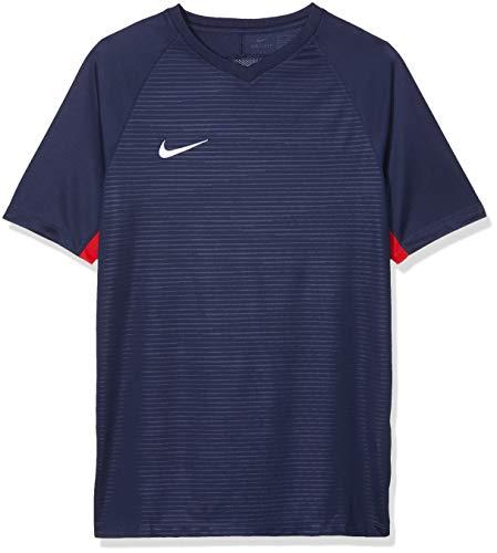 Nike Y NK Dry K Tiempo Premier Ss Jsy T-shirt, Niños, Midnight Navy/ Midnight Navy/ University Red/ White, XL