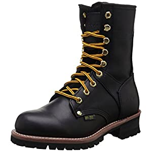 Ad Tec Women's 9″ Logger Black Work Boot