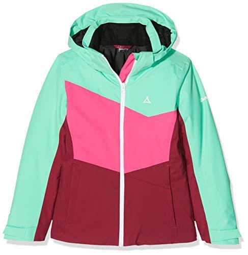 Schöffel Jacket Brescia3, warme und farbenfrohe Skijacke für Mädchen, wasserdichte und atmungsaktive Winterjacke mit Skiticket-Tasche Mädchen, katydid, 164