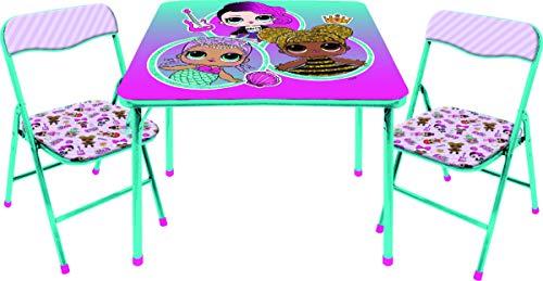 LOL Surprise - Juego de Mesa y sillas (3 Piezas), Multicolor