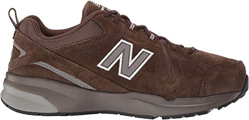 New Balance Men's 608 V5 Casual Comfort Cross Trainer, Chocolate Brown/White, 10 XW US
