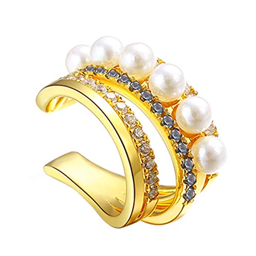 YRC Fácil de Usar Pendientes de Oro en Forma de aro de Oreja Pendientes de Oro y joyería de espárrago Solo/Pareja Adecuada para niñas y Adolescentes para el Uso de Todo el día (Size : Single)