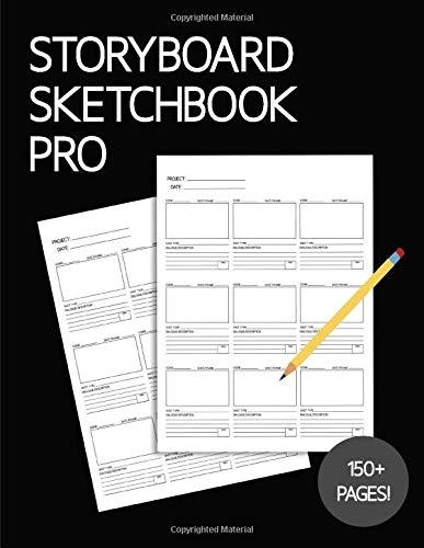 Storyboard Sketchbook PRO - Blank Panel Notebook: Black Cover, Large Print 16:9 Ratio Frames for Animation, Film & Creative Storytelling (Storyboard Sketchbook PRO - Blank Panel Notebooks)