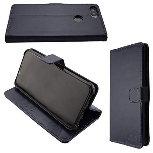 caseroxx Handy Hülle Tasche kompatibel mit Gigaset GS195 Bookstyle-Hülle Wallet Hülle in blau