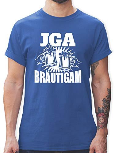 JGA Junggesellenabschied Männer - JGA Bier anstoßen - Bräutigam - XXL - Royalblau - junggesellenabschied männer - L190 - Tshirt Herren und Männer T-Shirts