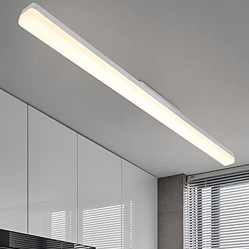 CBJKTX Plafoniera a LED da soffitto Lampada da Soffitto bianco naturale - Moderni 36W Pannello Luce Lampada da parete 4000K Illuminazione interni per garage camera letto corridoio cucina - 90CM