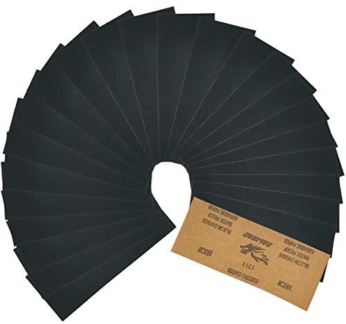 Rocoo 紙やすり サンドペーパ 耐水ペーパー 140x75mm 230x93mm 42枚入り 14種類 (120 150 180 240 320 400 600 800 1000 1200 1500 2000 2500 3000 各3枚) (230 x