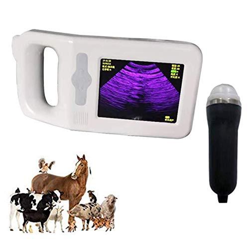 QHWJ Máquina de ultrasonido Veterinaria con una sonda en elección, máquina de ultrasonido de Pantalla de Color de Alta definición para Vaca, ovejas, Cerdo