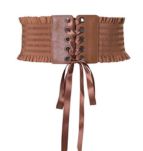 Oyccen Señoras Cinturones Ancho Mujer Vestido Elástico Corsé Cinturón
