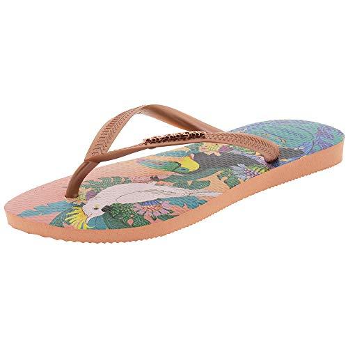 Havaianas Slim Tropical Tongs-Femme-Multicolore (Silk Rose 0082)-37/38 EU
