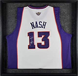 Suns Steve Nash Autographed Signed Framed White Jersey Autographed Signed Bas #A68532 - Certified Signature