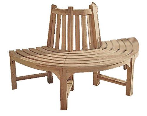 Garden Pleasure Teak Baumbank Java Holz Gartenbank Sitzbank Garten Bank Parkbank