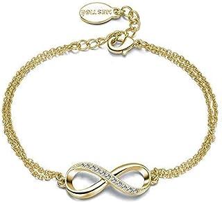 Mestige Jewellery Gold Infinitely Yours Bracelet with Swarovski® Crystals