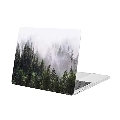 MOSISO Hülle Kompatibel mit MacBook Pro 13 2020-2016 Freisetzung M1 A2338/A2289/A2251/A2159/A1989/A1706/A1708 - Plastik Muster Hartschale Kompatibel mit MacBook Pro 13 Zoll, Grün Wald