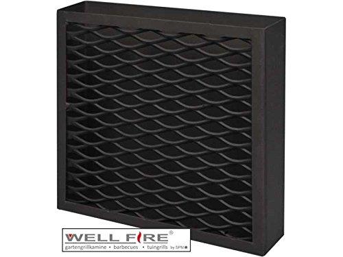 Wellfire - Kohlekörbe in Schwarz, Größe 30x32x8cm