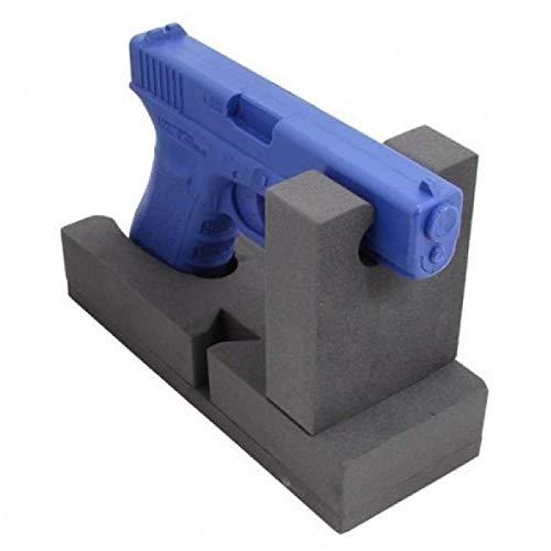 SafeHero Waffenhalter für Kurzwaffen   Modular & mit Klebefläche   schonende Lagerung durch stabilen Schaumstoff   für Pistolen, Revolver, Airsoft, Luftpistolen UVM.