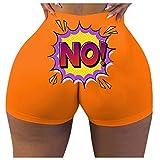 WOBANG Leggings deportivos para mujer, con bolsillo de jersey, elegante, pantalones de yoga, de cintura alta, elásticos, estrechos, elásticos, de cintura alta naranja S