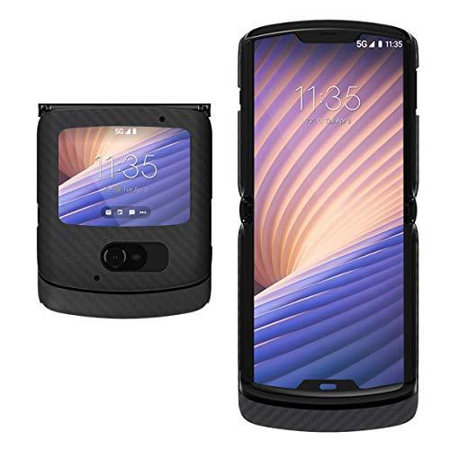 Evutec Kompatibel mit Motorola Razr Hülle, Aramid-Faser-Schutzhülle für Motorola Razr 5G, Schwarz